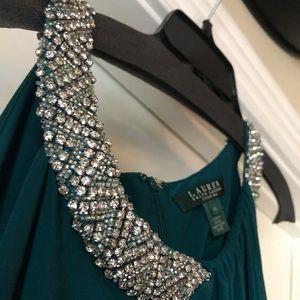 Ralph Lauren Emerald Prom Dress NWT